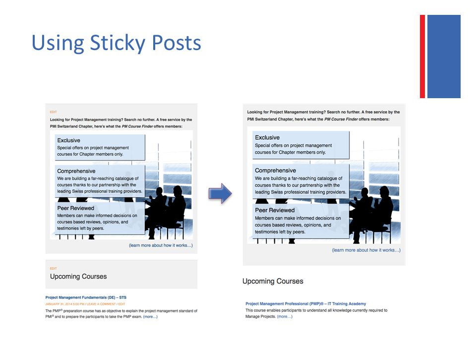Using Sticky Posts