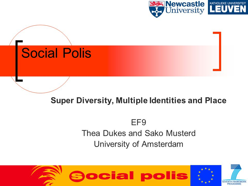 Social Polis Super Diversity, Multiple Identities and Place EF9 Thea Dukes and Sako Musterd University of Amsterdam