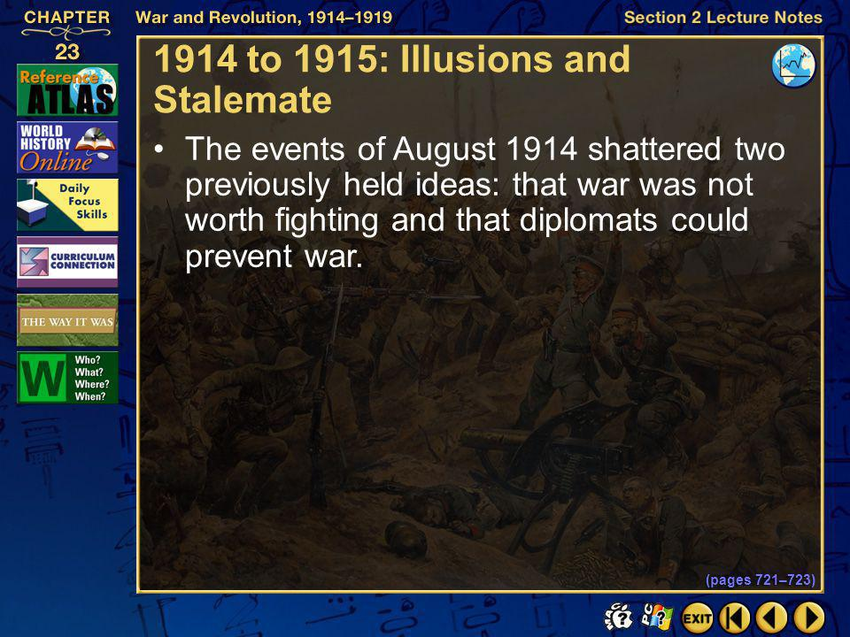 Section 1-26 Click the mouse button or press the Space Bar to display the information. The Germans demanded that Belgium–a neutral country–allow Germa