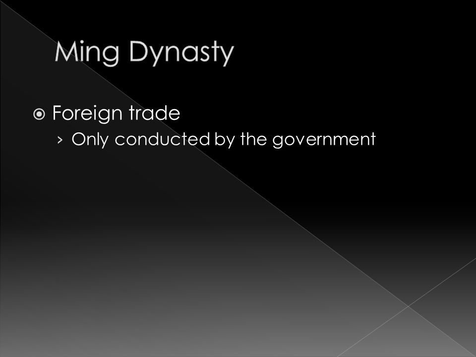  Foreign trade › Only conducted by the government