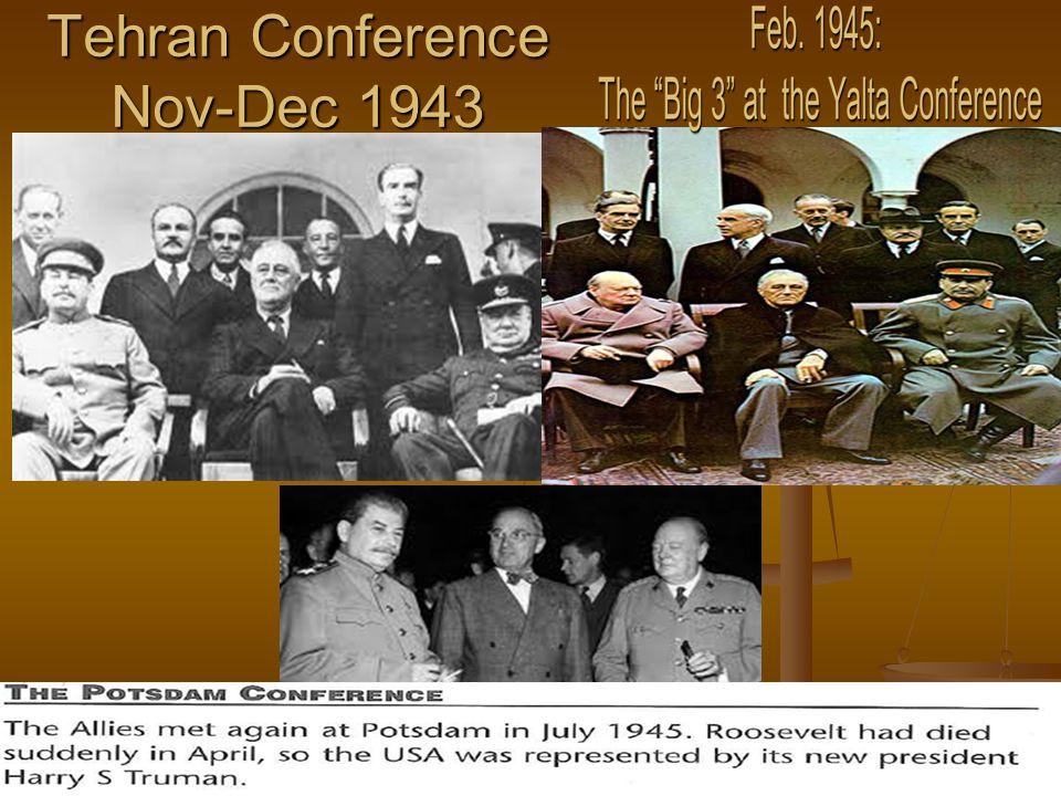 Tehran Conference Nov-Dec 1943