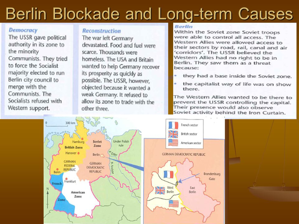 Berlin Blockade and Long-term Causes