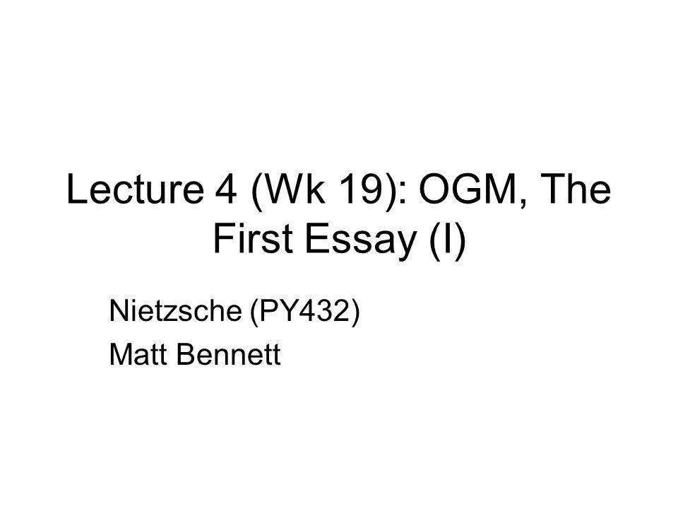 Last 3 weeks Nietzsche's critique of morality Nietzsche's psychology Death of god and nihilism Creating one's own values