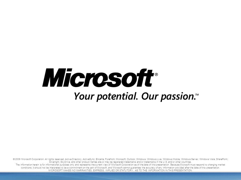 46 Windows Live Spaces + Windows Live Writer © 2009 Microsoft Corporation.