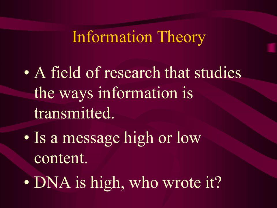 DNA All creation points toward an intelligent designer. Watch argument