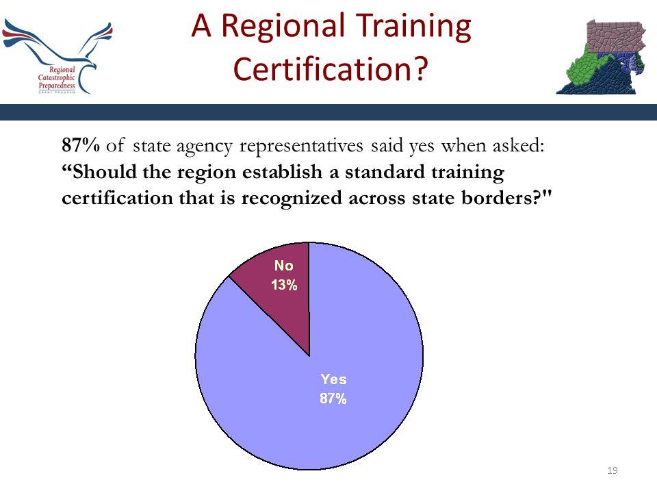 A Regional Training Certification.