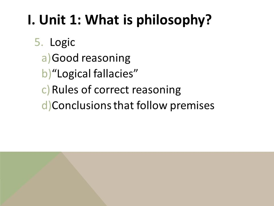 I. Unit 1: What is philosophy. 4.Aesthetics A.What is art.