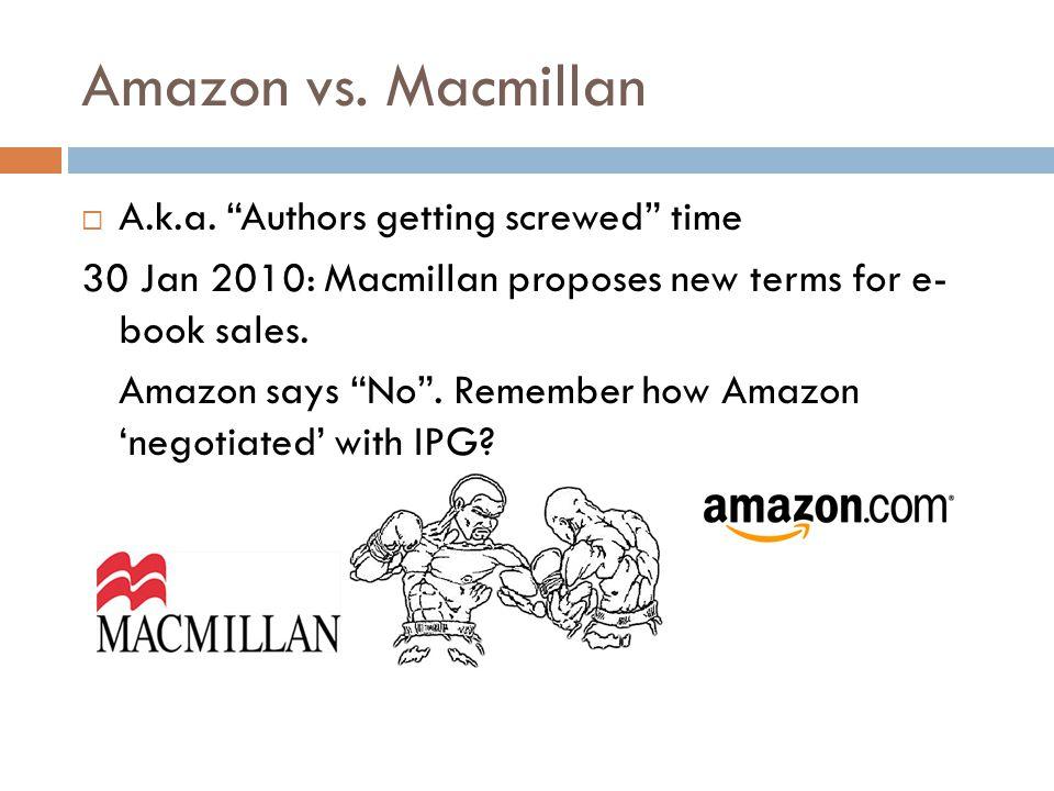 Amazon vs. Macmillan  A.k.a.