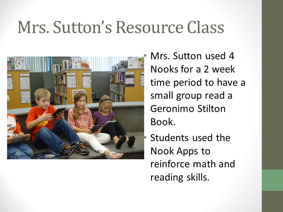 Mrs. Sutton's Resource Class Mrs.