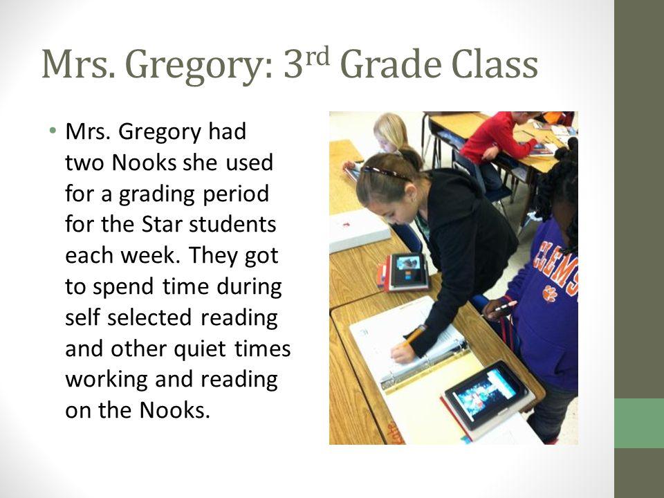Mrs. Gregory: 3 rd Grade Class Mrs.