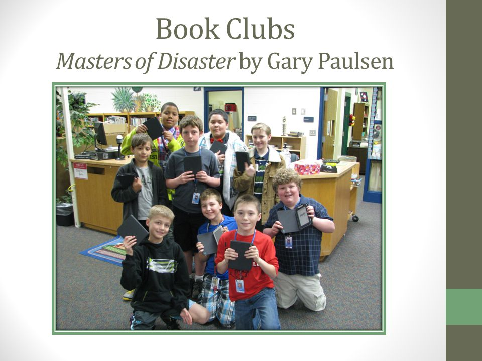 Book Clubs Masters of Disaster by Gary Paulsen
