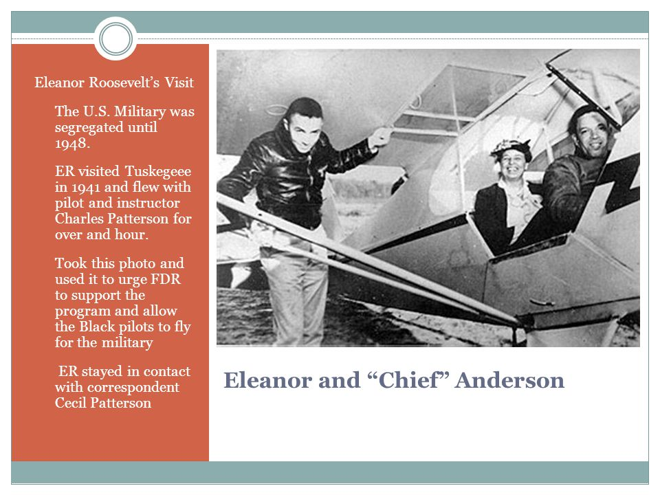 Eleanor and Chief Anderson Eleanor Roosevelt's Visit The U.S.