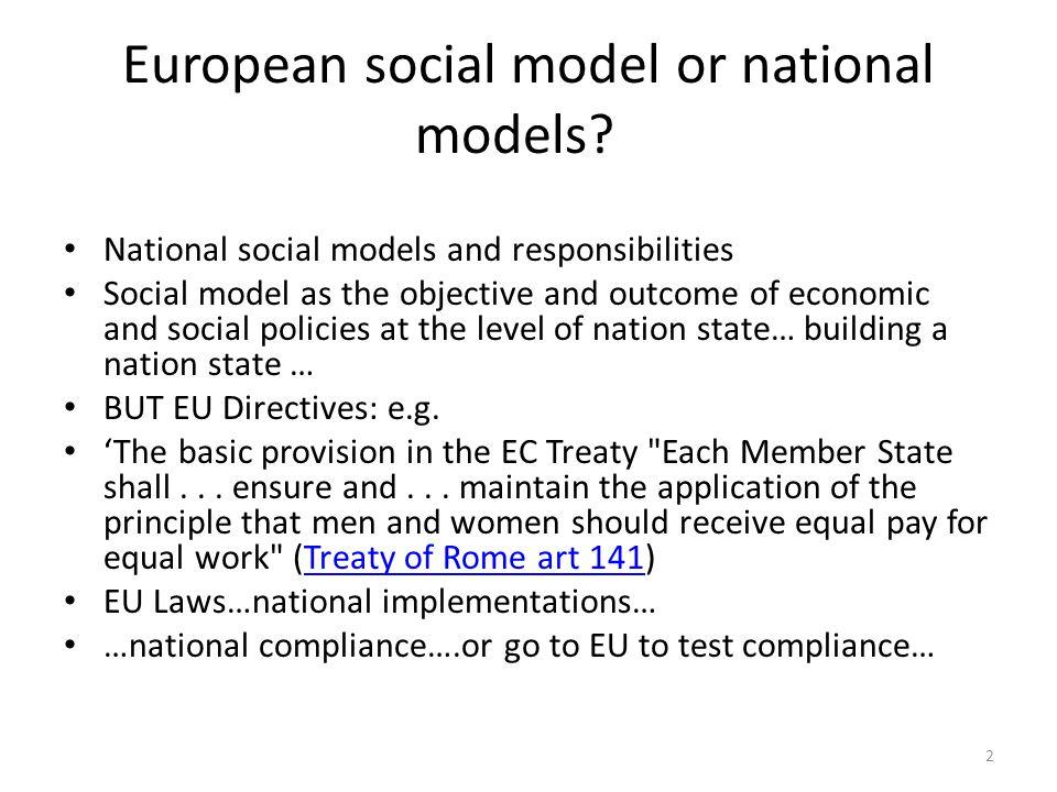 European social model or national models.