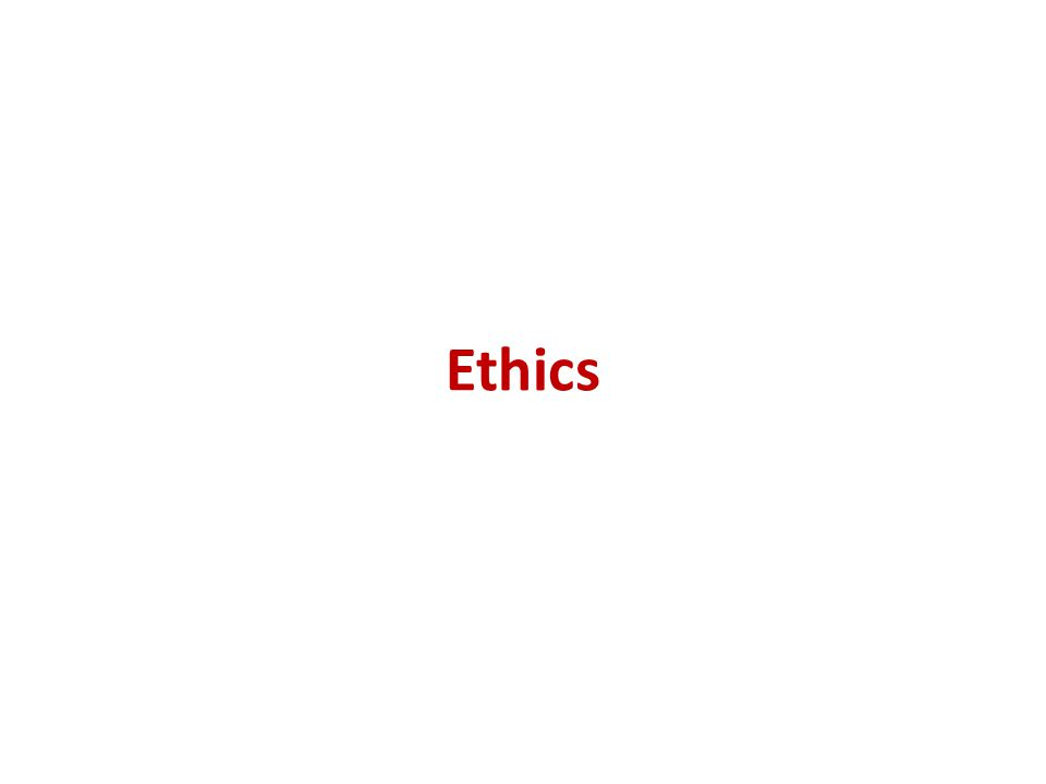 Introduction to ethics…