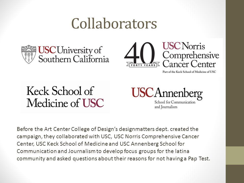 Collaborators Before the Art Center College of Design's designmatters dept.