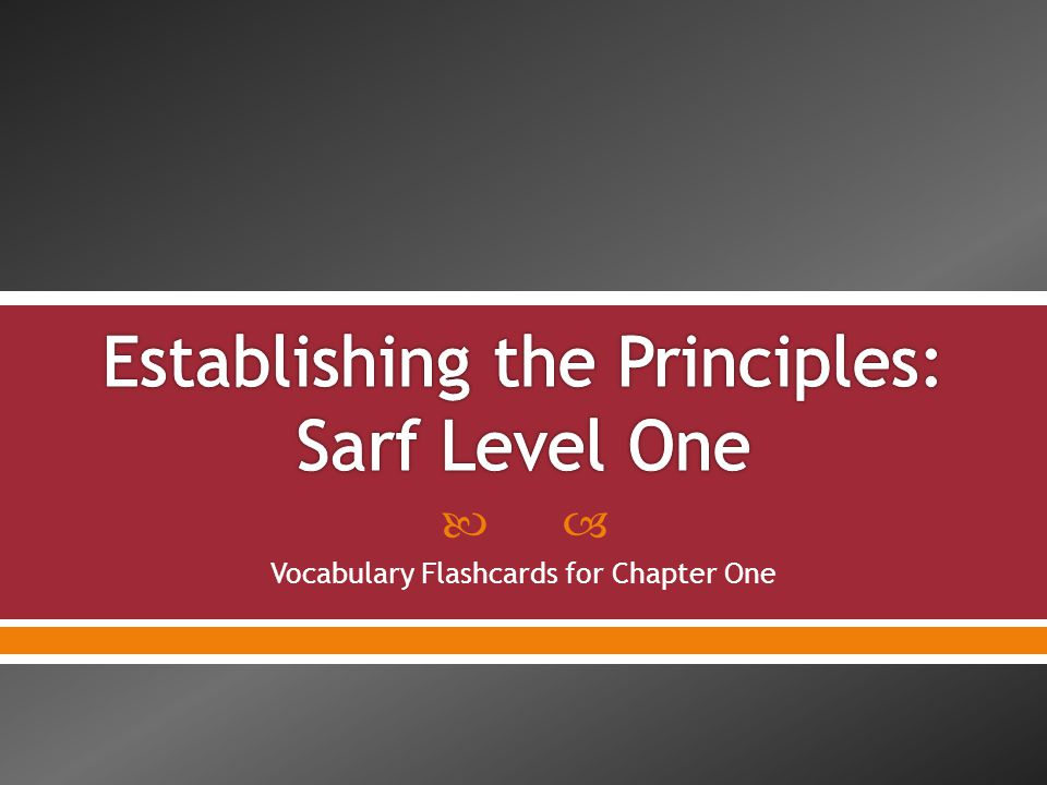  Vocabulary Flashcards for Chapter One