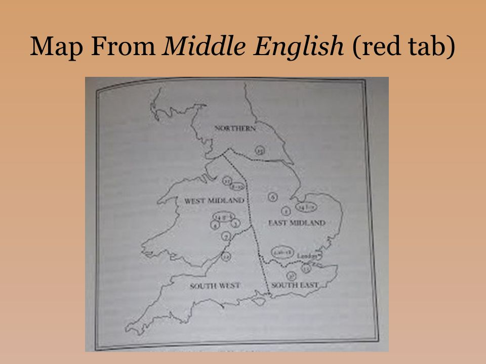 Map From Middle English (red tab)