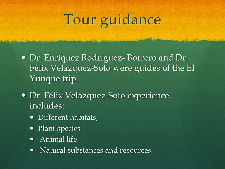Tour guidance Dr. Enríquez Rodríguez- Borrero and Dr.