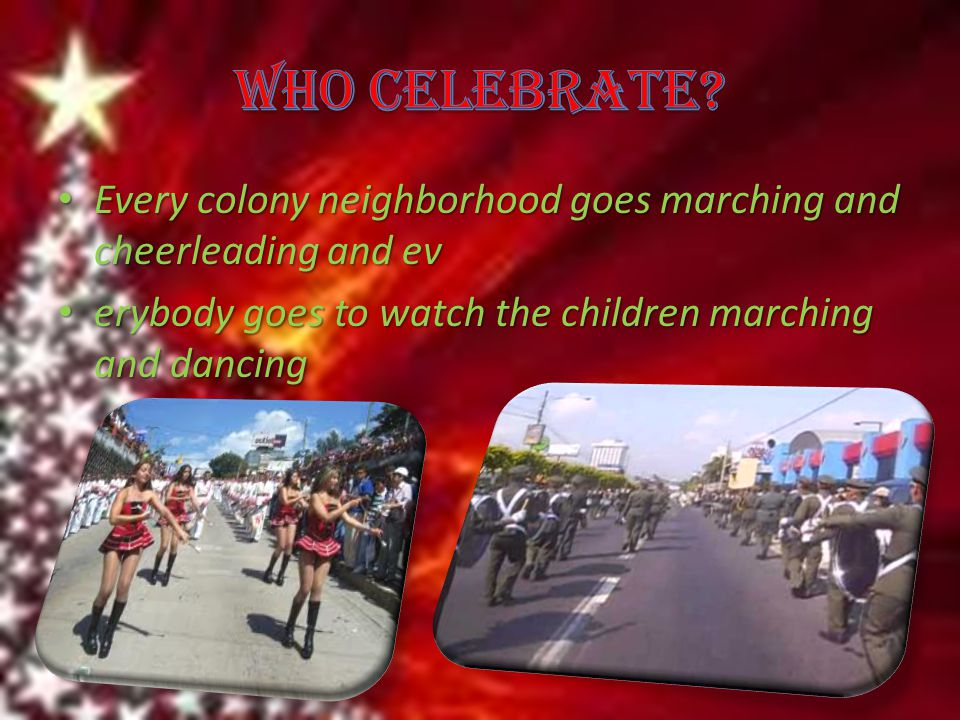 Every colony neighborhood goes marching and cheerleading and ev Every colony neighborhood goes marching and cheerleading and ev erybody goes to watch the children marching and dancing erybody goes to watch the children marching and dancing