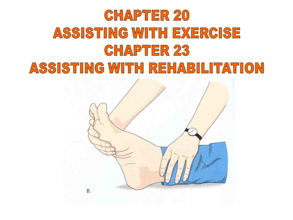 REHABILITATION BEGINS WHEN PERSON IS FIRST ADMITTED TO HEALTH CARE FACILITY NURSING CARE IS GIVEN TO PREVENT COMPLICATIONS THAT WILL IMPACT REHABILITATION EFFORTS SELF-CARE IS A MAJOR GOAL PERSON WILL PERFORM ACTIVITIES OF DAILY LIVING AS INDEPENDENTLY AS POSSIBLE MAY NEED ASSISTIVE DEVICES