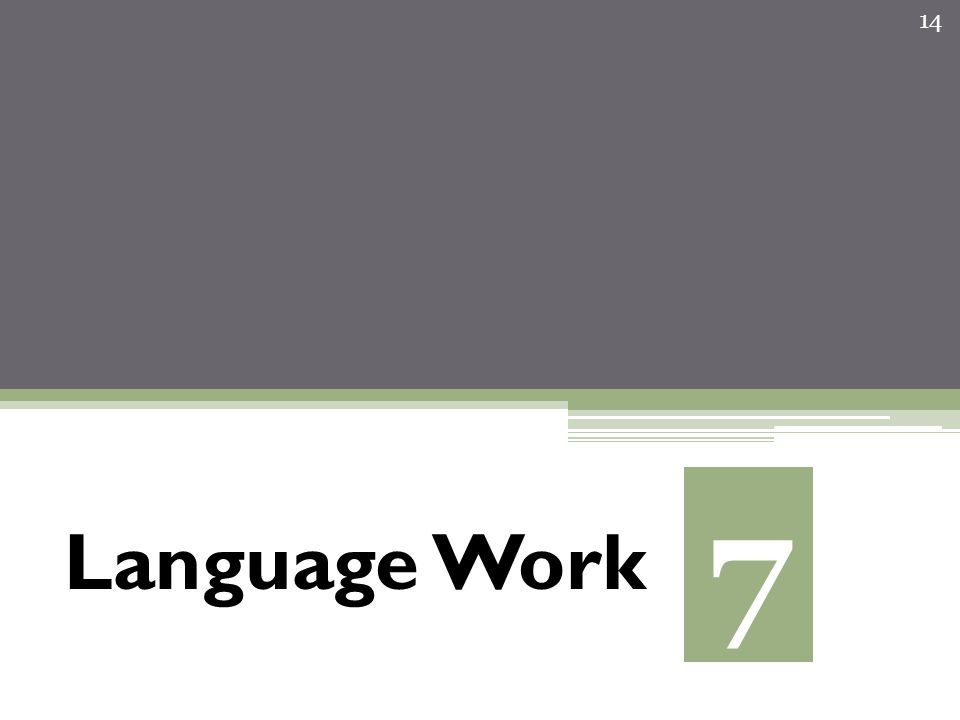 Language Work 14 7