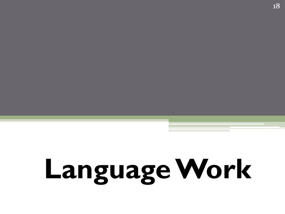 Language Work 18