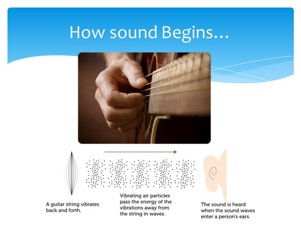 How sound Begins…