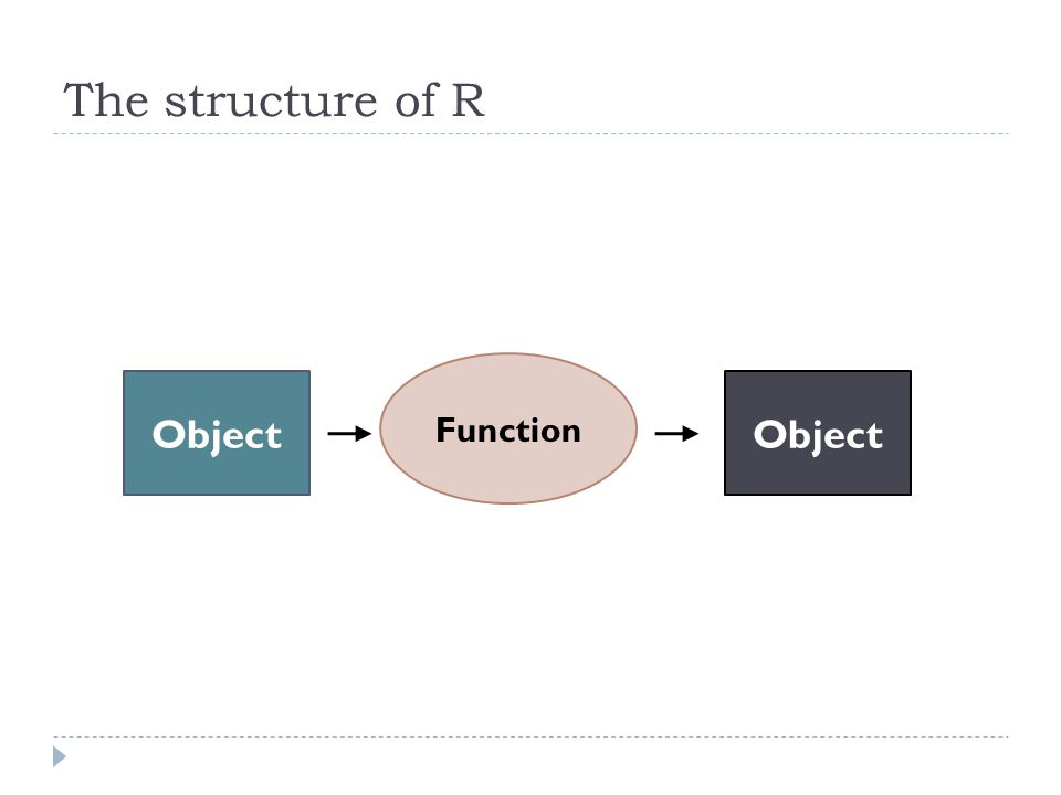 The structure of R Object Function Object