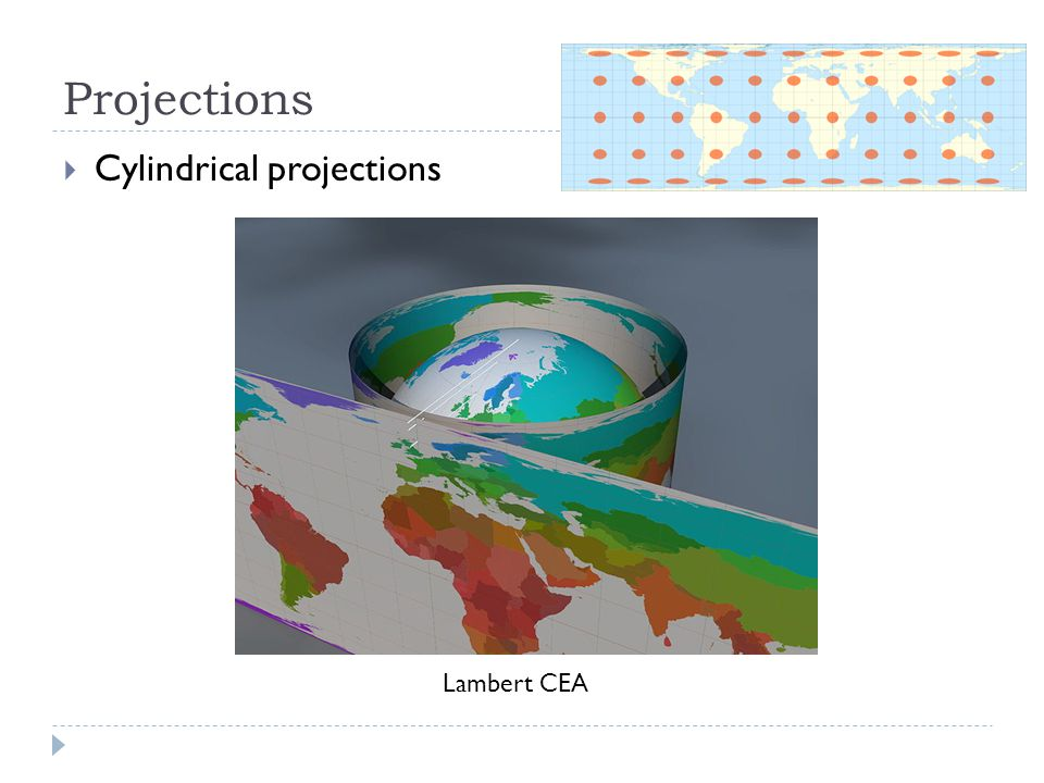 Projections  Cylindrical projections Lambert CEA