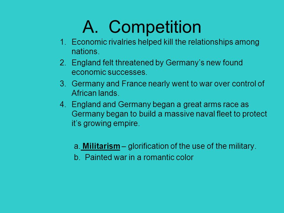 V.Reaction to War Before the war many European nations had domestic issues causing problems.
