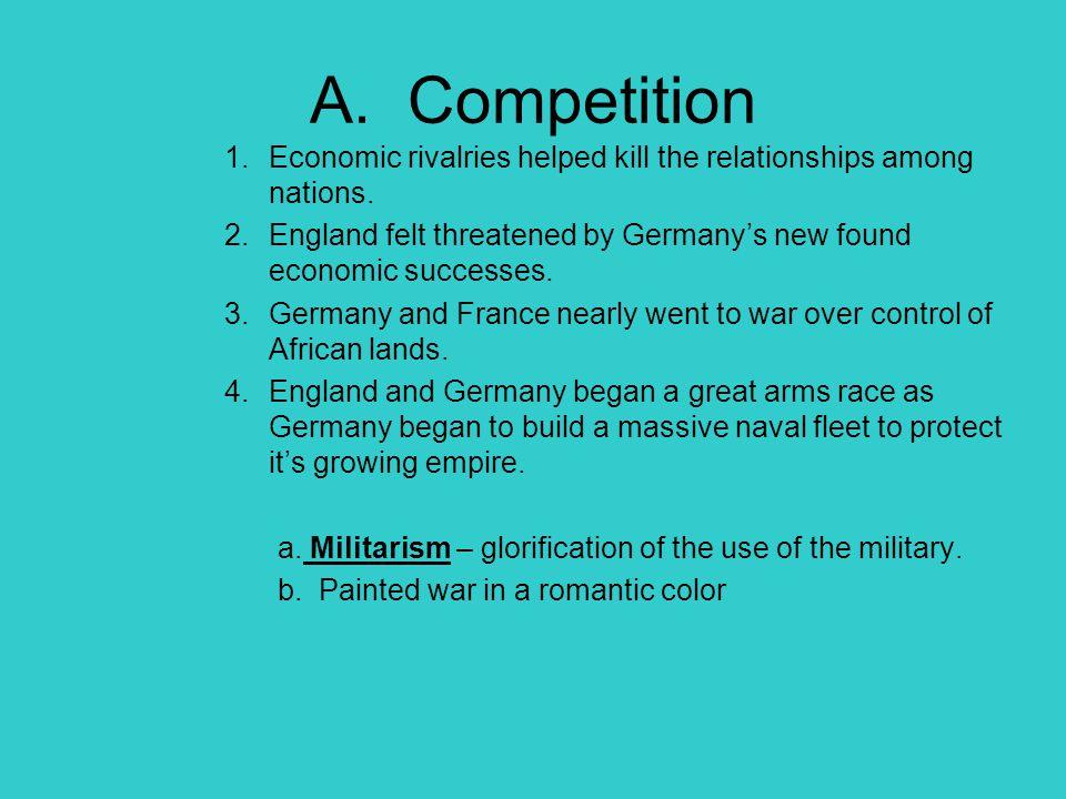 B.Economic Warfare 1. England used it's navy to blockade the German ports on the North Sea.
