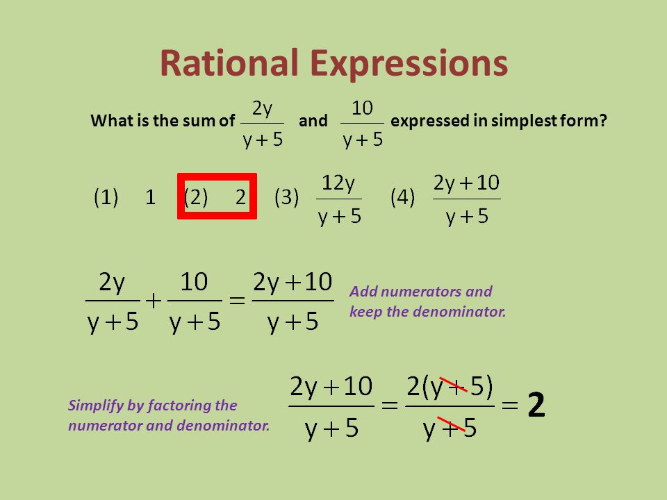 Rational Expressions LCD ( Least Common Denominator ): 9x 2 Find equivalent fractions with a common denominator by multiply by a FOO (form of one).