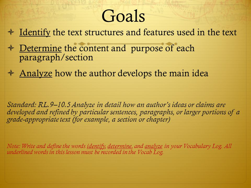 Identify the Main Idea  Read each section  Highlight the words/phrases that contain the most important information in that section.