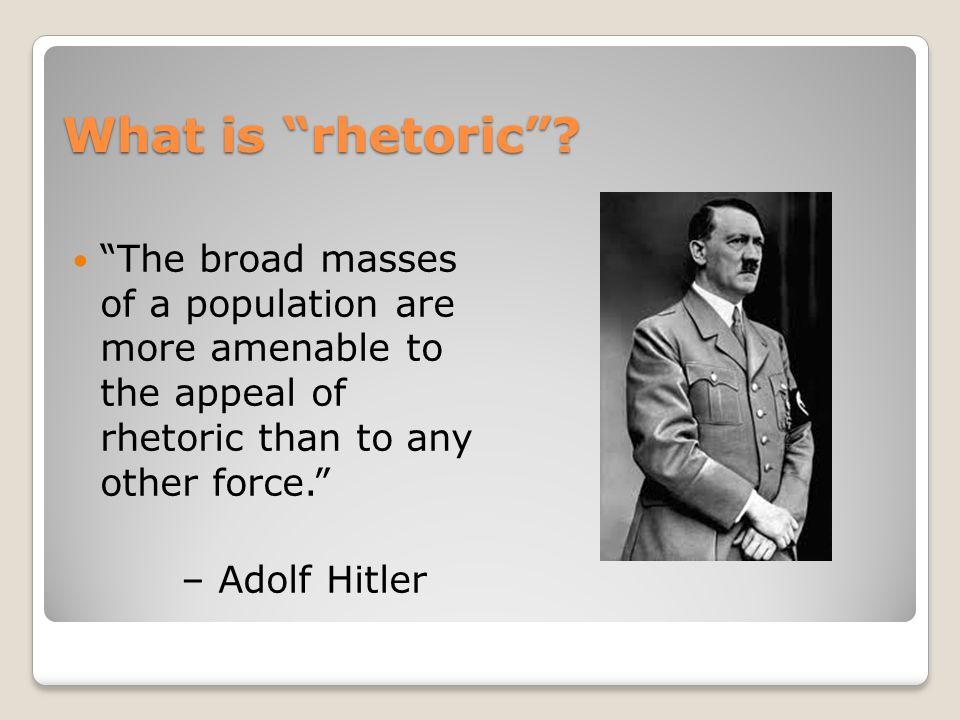 What is rhetoric .