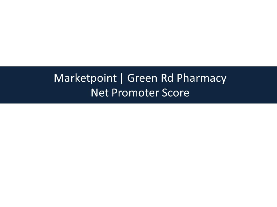 Marketpoint | Green Rd Pharmacy Net Promoter Score