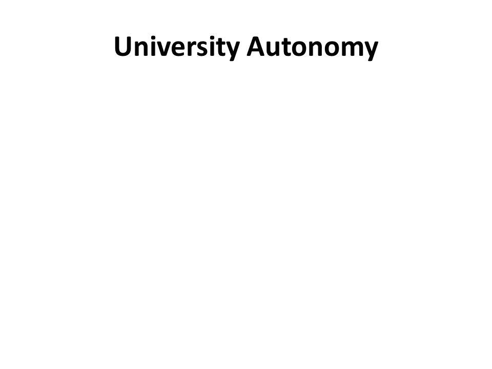 University Autonomy