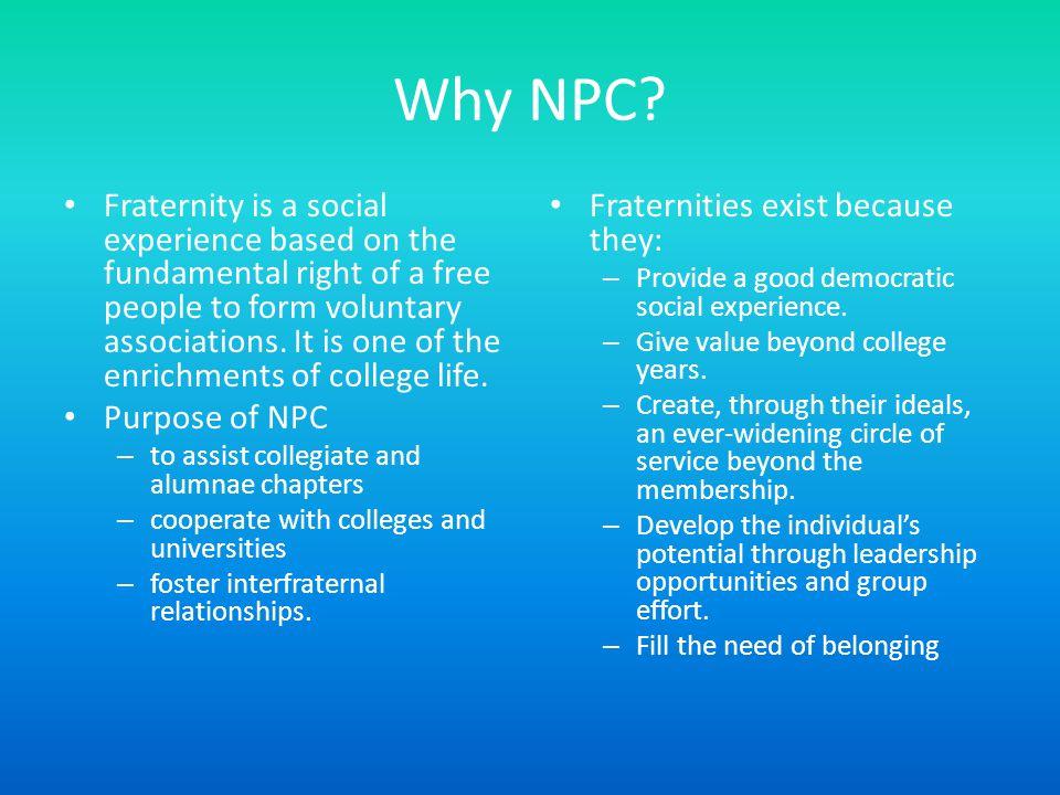 Why NPC.