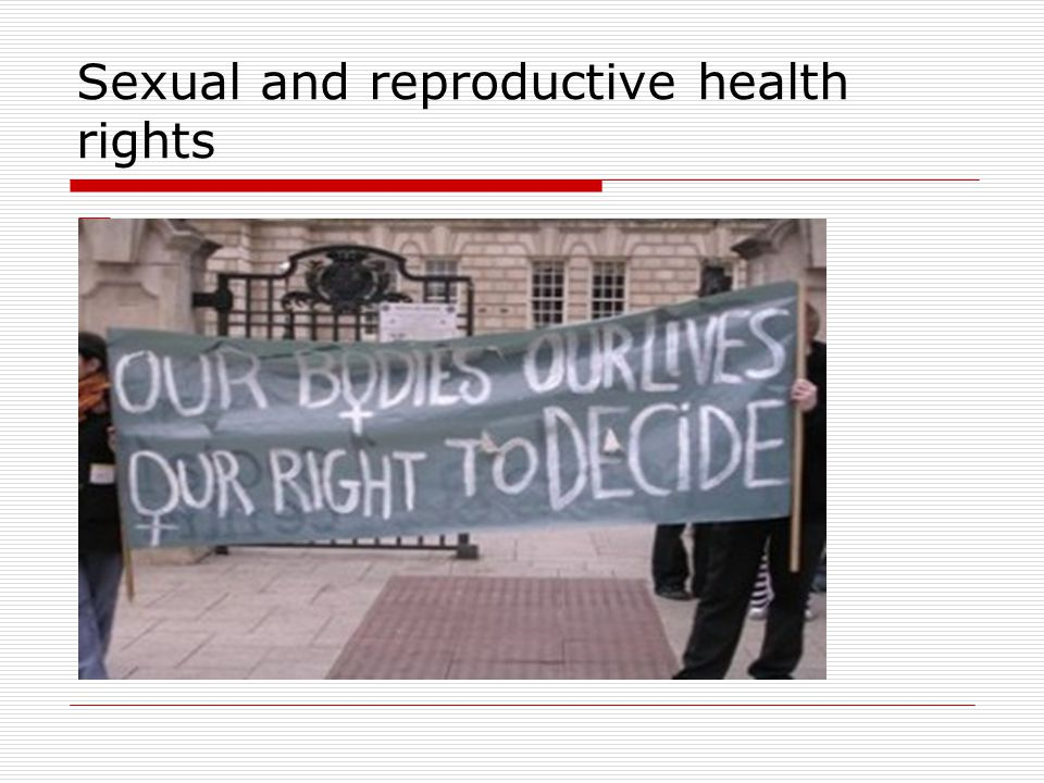 Sexual and reproductive health rights oo