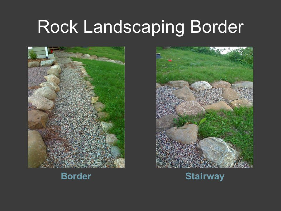 Rock Landscaping Border BorderStairway