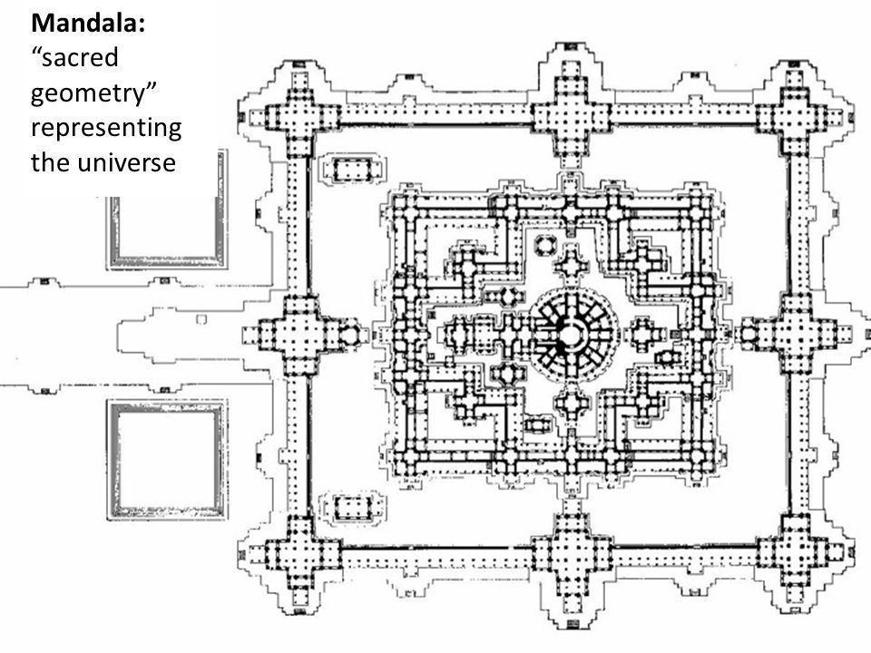 Mandala: sacred geometry representing the universe