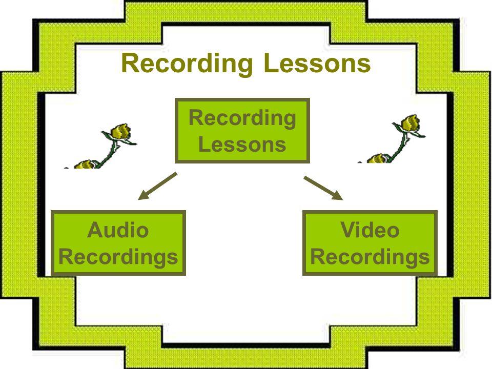 Recording Lessons Video Recordings Recording Lessons Audio Recordings