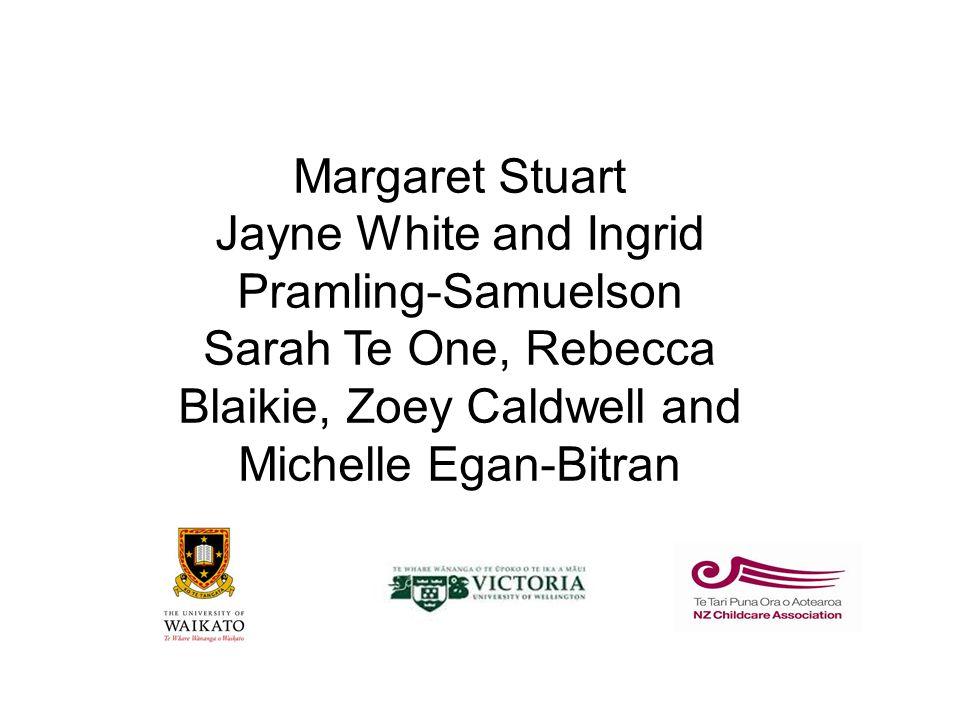 Margaret Stuart Jayne White and Ingrid Pramling-Samuelson Sarah Te One, Rebecca Blaikie, Zoey Caldwell and Michelle Egan-Bitran