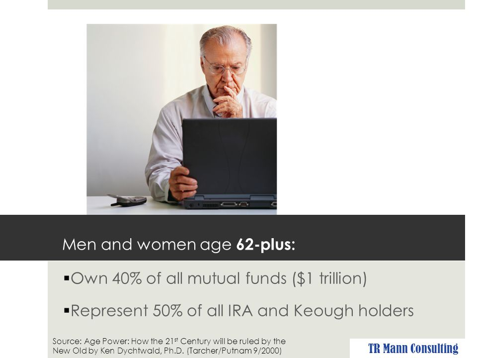 Men and women 62-plus:  Earn $2 trillion in income TR Mann Consulting