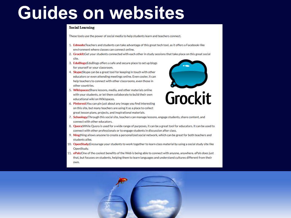 Guides on websites