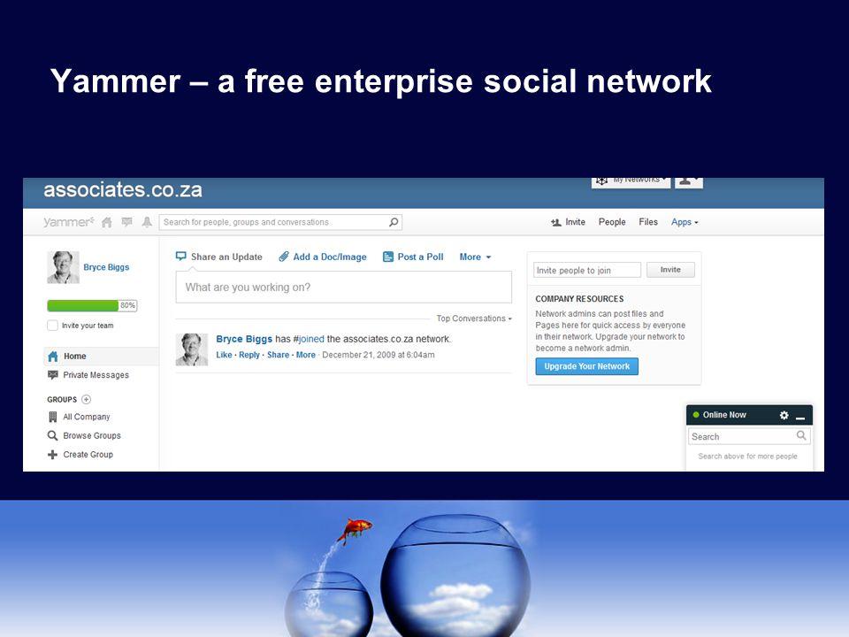 Yammer – a free enterprise social network