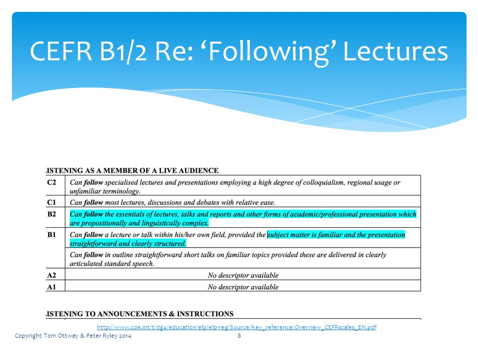 9 Note taking CEFR B2- to guide or not.