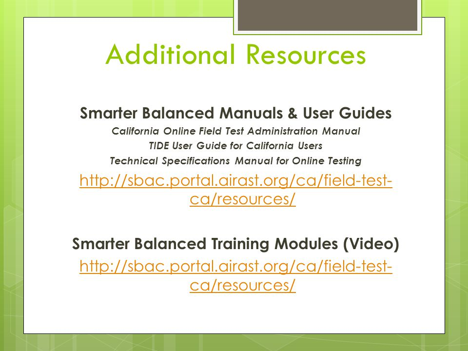 Staff Training Reminders Security Affidavits Testing Schedule (CST Science /CMA Science /CAPA) Room EnvironmentReview DFAExaminer Training Checklist BEFORE TESTING