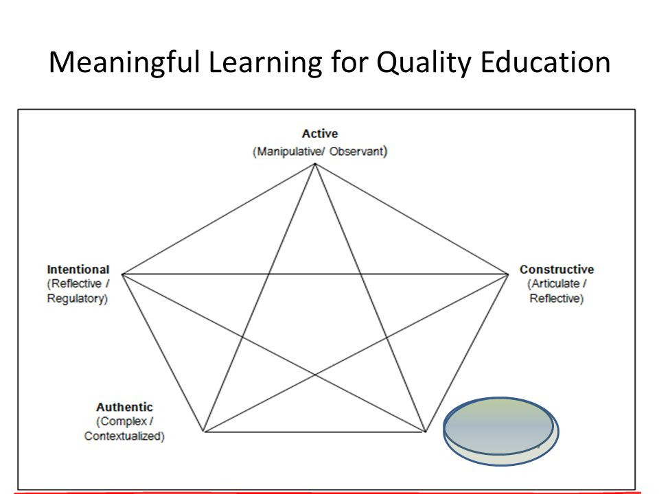 Meaningful Learning for Quality Education