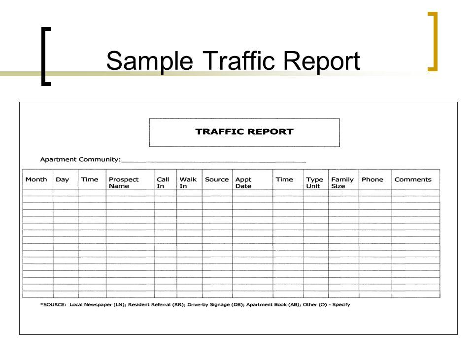 Sample Traffic Report