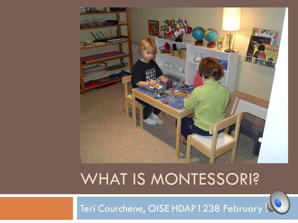 WHAT IS MONTESSORI? Teri Courchene, OISE HDAP1238 February 2011